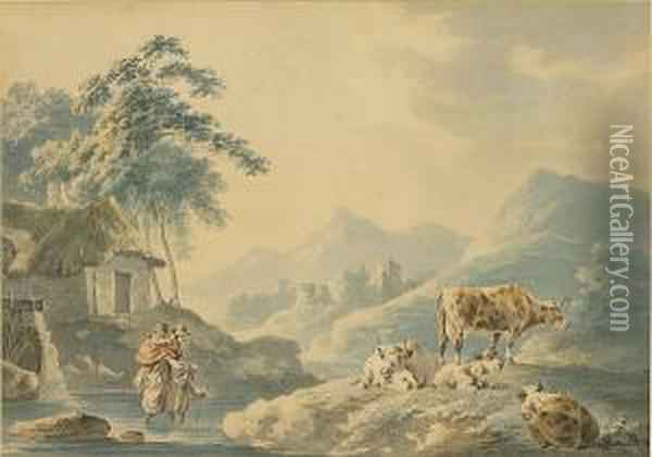 A Rural Idyll Oil Painting - Peter La Cave