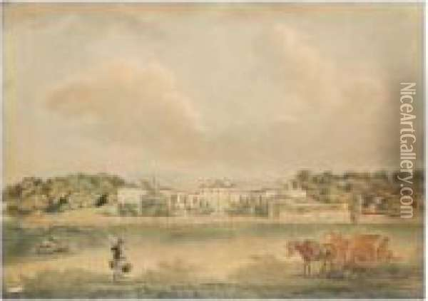 Eden Park, The Seat Of Lord Auckland Oil Painting - Peter La Cave