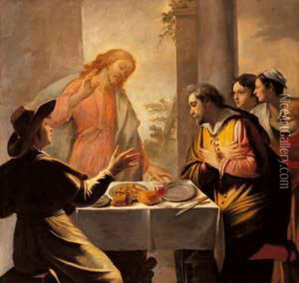 Cena In Emmaus Oil Painting - Mathieu Le Nain