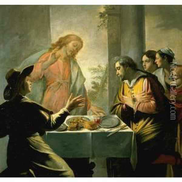 The Supper At Emmaus Oil Painting - Mathieu Le Nain