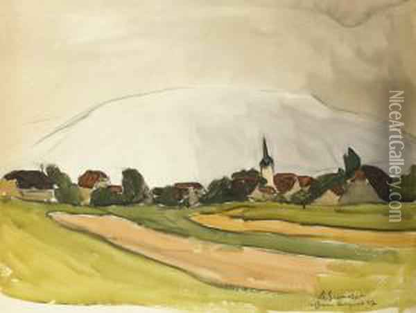 Le Village Oil Painting - Maurice Le Scouezec