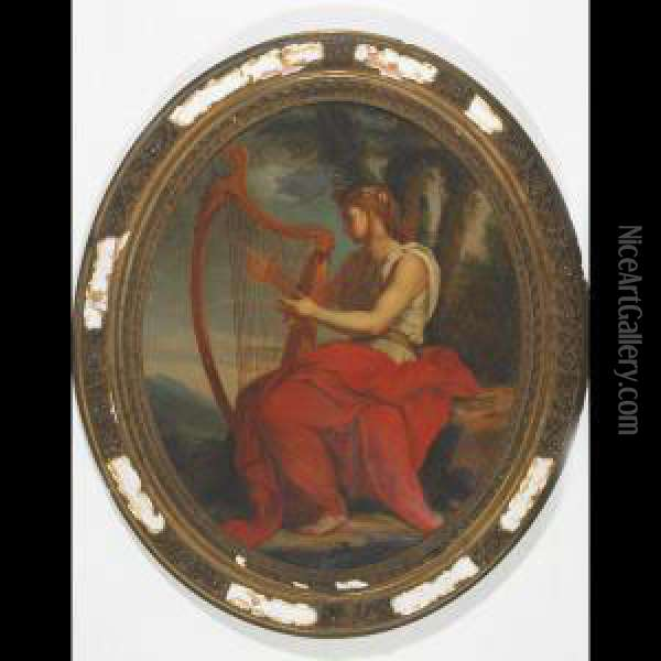 The Muse Calliope Oil Painting - Eustache Le Sueur