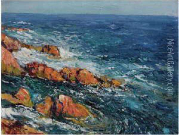 Les Rochers Rouges A L'esterel Oil Painting - Paul Leduc