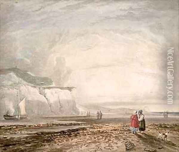 A Seaside View Oil Painting - David Cox