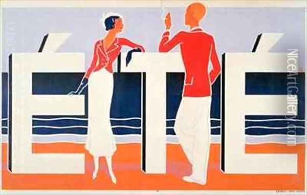Ete Oil Painting - M. E. Caddy