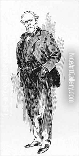 Mr Keir Hardie The Labour Leader from an article entitled The Reassembling of Parliament Oil Painting - Ralph Cleaver