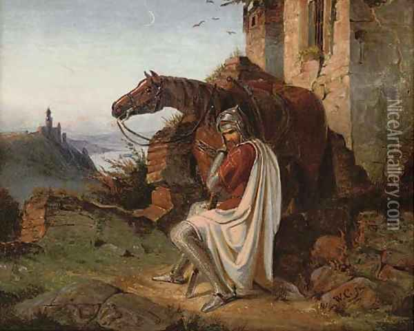 The resting crusader Oil Painting - Wilhelm Camphuisen