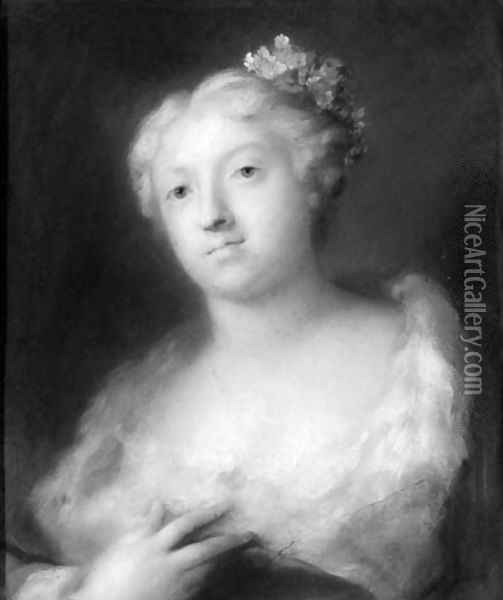 A girl Oil Painting - Rosalba Carriera