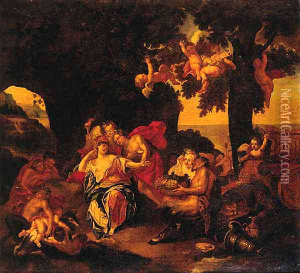 Bacchus And Ariadne On The Island Of Naxos Oil Painting - Antoine Coypel
