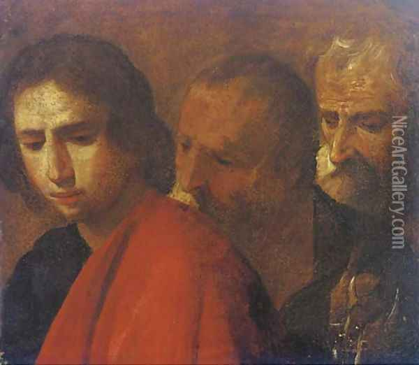 Three Apostles Oil Painting - Bernardo Cavallino