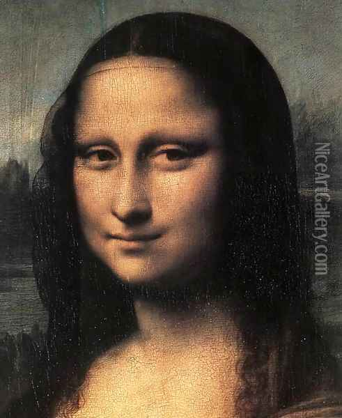 Mona Lisa Detail Oil Painting - Leonardo Da Vinci