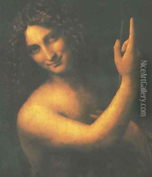 St. John the Baptist (San Giovanni Battista) Oil Painting - Leonardo Da Vinci
