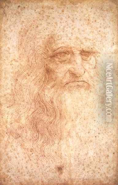Self Portrait Oil Painting - Leonardo Da Vinci