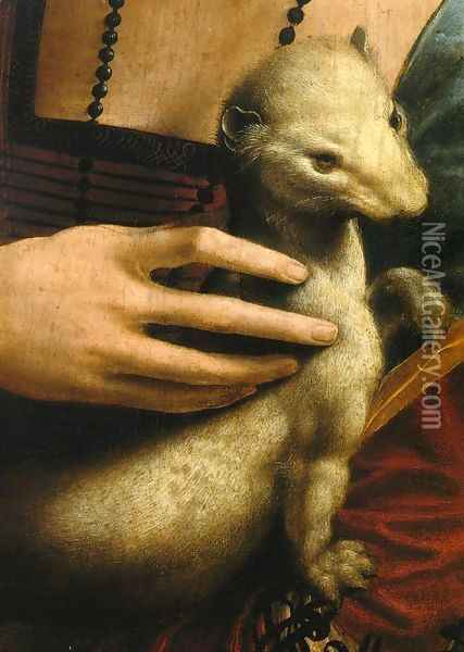 Lady with an Ermine (Detail) Oil Painting - Leonardo Da Vinci