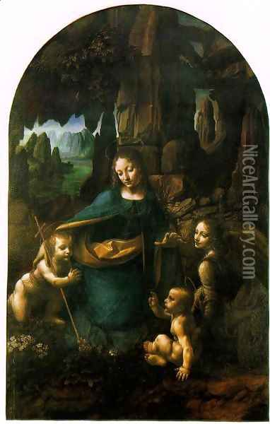 Virgin of the Rocks Oil Painting - Leonardo Da Vinci