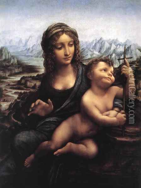 Madonna with the Yarnwinder Oil Painting - Leonardo Da Vinci