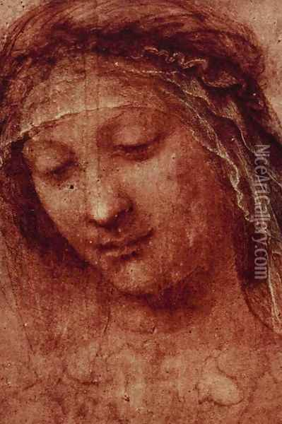 Study of a Woman's Head Oil Painting - Leonardo Da Vinci