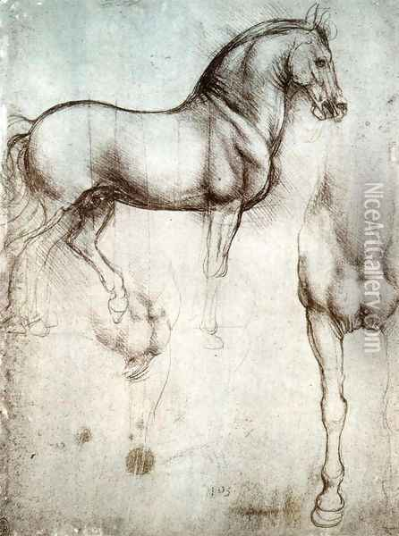 Study of horses Oil Painting - Leonardo Da Vinci