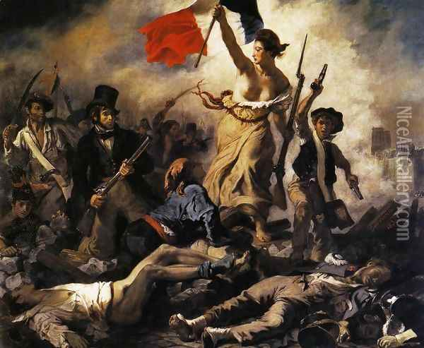 Liberty Leading the People (28th July 1830) 1830 Oil Painting - Eugene Delacroix