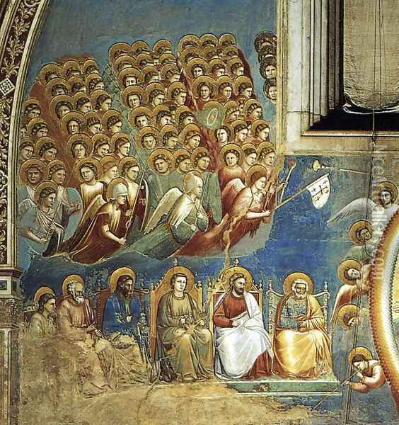 Last Judgment (detail) Oil Painting - Giotto Di Bondone