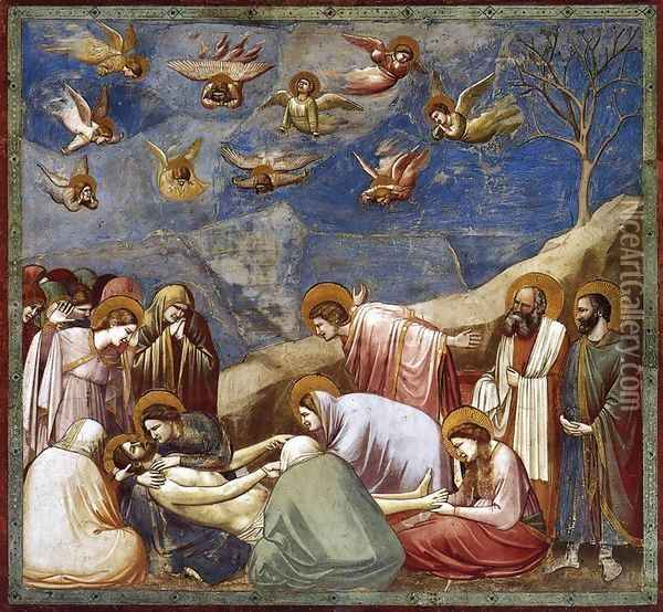 No. 36 Scenes from the Life of Christ- 20. Lamentation (The Mourning of Christ) 1304-06 Oil Painting - Giotto Di Bondone
