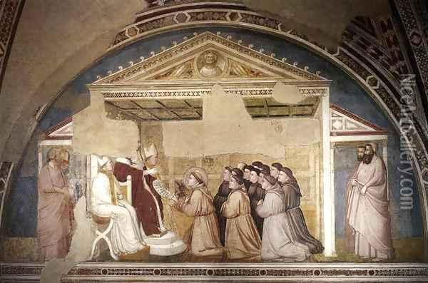 Scenes from the Life of Saint Francis- 5. Confirmation of the Rule 1325 Oil Painting - Giotto Di Bondone
