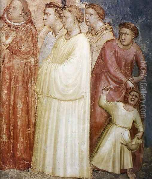 Scenes from the Life of Saint Francis- 2. Renunciation of Wordly Goods (detail) 1325 Oil Painting - Giotto Di Bondone