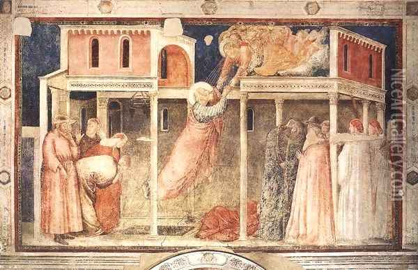 Scenes from the Life of St John the Evangelist- 3. Ascension of the Evangelist 1320 Oil Painting - Giotto Di Bondone