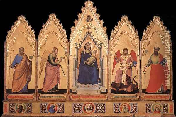 Polyptych 1330-35 Oil Painting - Giotto Di Bondone
