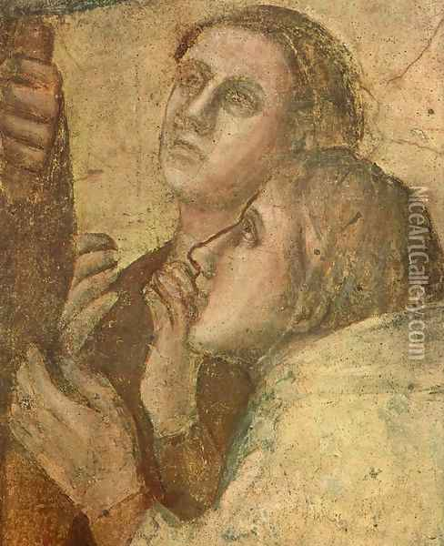 Scenes from the Life of St John the Evangelist- 2. Raising of Drusiana (detail 2) 1320 Oil Painting - Giotto Di Bondone