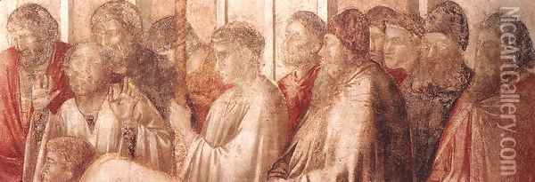 Scenes from the Life of St John the Evangelist- 2. Raising of Drusiana (detail 3) 1320 Oil Painting - Giotto Di Bondone