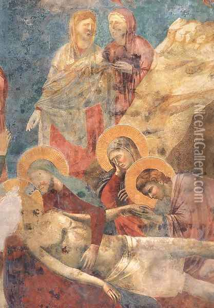 Scenes from the New Testament- Lamentation (detail 2) 1290s Oil Painting - Giotto Di Bondone
