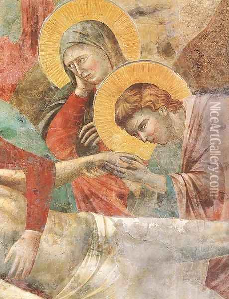 Scenes from the New Testament- Lamentation (detail 1) 1290s Oil Painting - Giotto Di Bondone