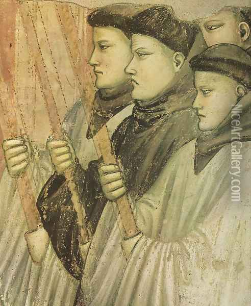 Scenes from the Life of Saint Francis- 4. Death and Ascension of St Francis (detail 3) 1325 Oil Painting - Giotto Di Bondone