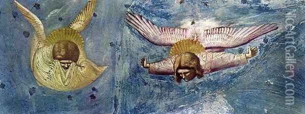 Scenes from the Life of Christ- 20. Lamentation (detail 5) 1304-06 Oil Painting - Giotto Di Bondone