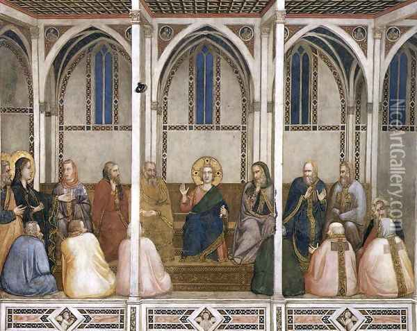 Christ Among the Doctors 1310s Oil Painting - Giotto Di Bondone