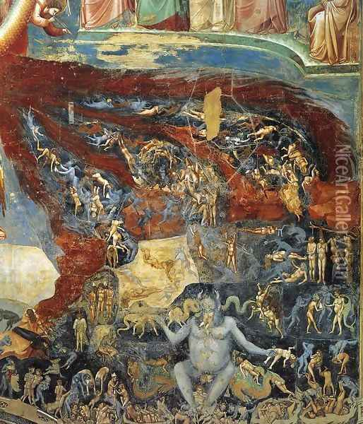 Last Judgment (detail 10) 1306 Oil Painting - Giotto Di Bondone