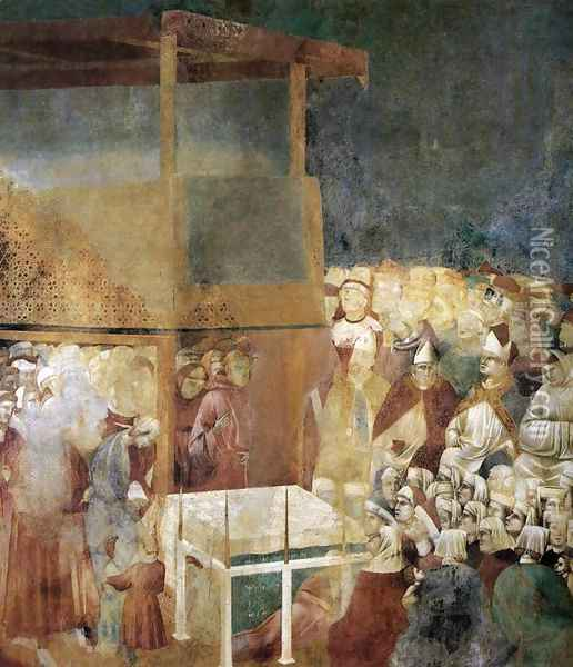Legend of St Francis- 24. Canonization of St Francis 1300 Oil Painting - Giotto Di Bondone