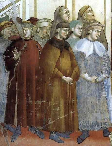 Legend of St Francis- 13. Institution of the Crib at Greccio (detail) 1297-1300 Oil Painting - Giotto Di Bondone