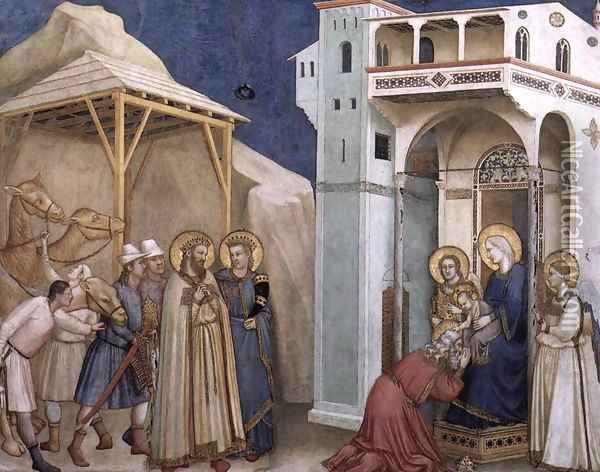 The Adoration of the Magi 1310s Oil Painting - Giotto Di Bondone