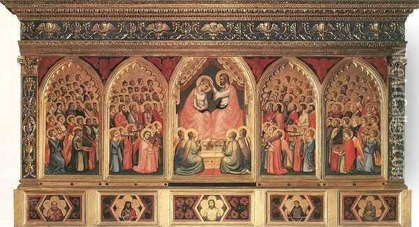Baroncelli Polyptych c. 1334 Oil Painting - Giotto Di Bondone