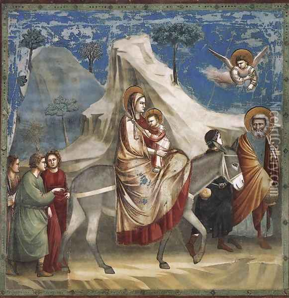 No. 20 Scenes from the Life of Christ- 4. Flight into Egypt 1304-06 Oil Painting - Giotto Di Bondone
