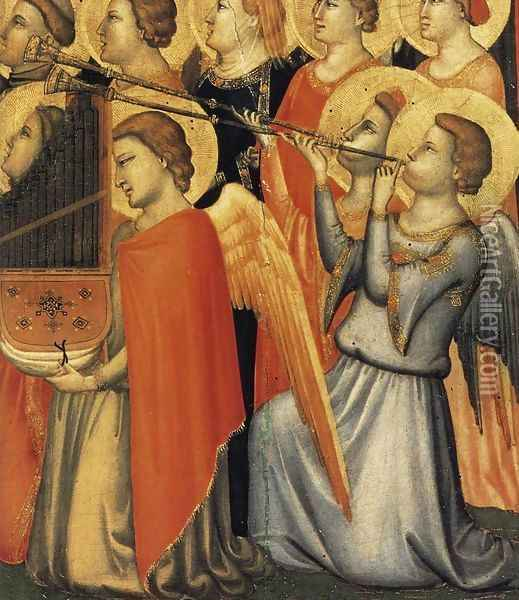 Baroncelli Polyptych (detail 2) c. 1334 Oil Painting - Giotto Di Bondone