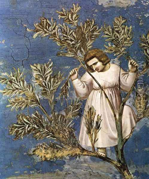 No. 26 Scenes from the Life of Christ- 10. Entry into Jerusalem (detail) 1304 Oil Painting - Giotto Di Bondone