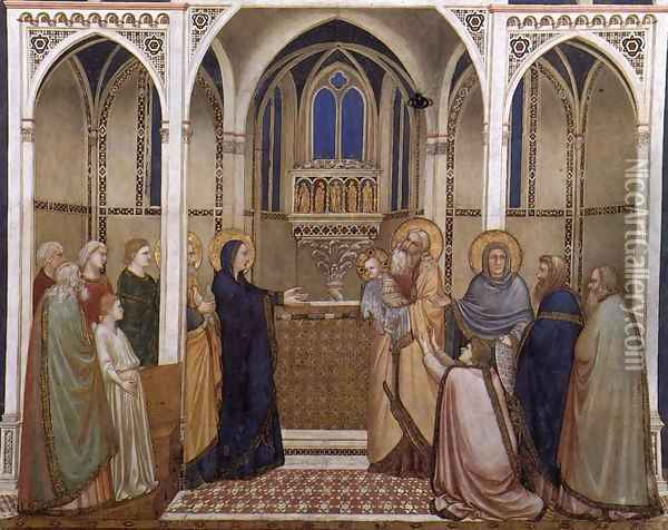 Presentation of Christ in the Temple 1310s Oil Painting - Giotto Di Bondone