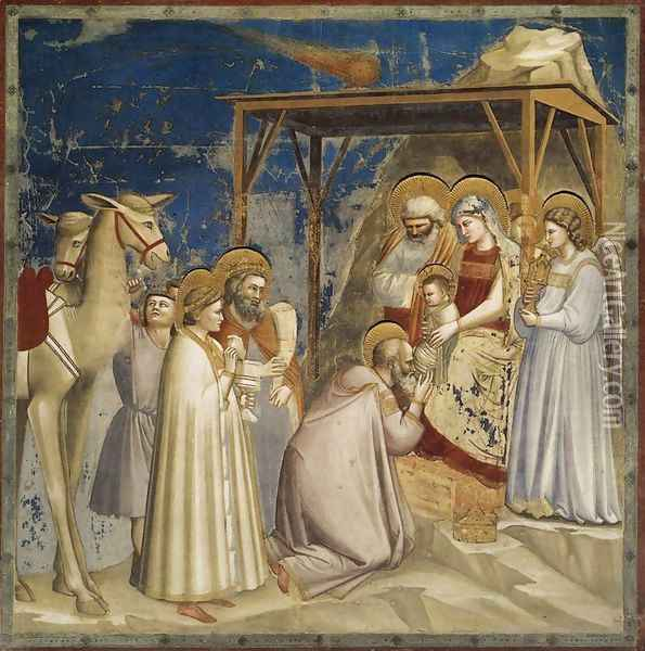 No. 18 Scenes from the Life of Christ- 2. Adoration of the Magi 1304-06 Oil Painting - Giotto Di Bondone
