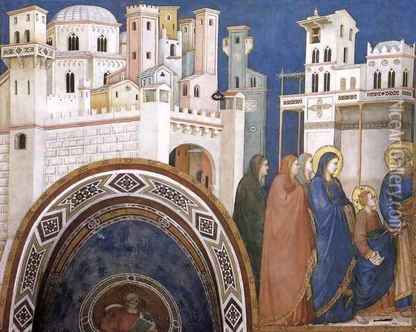 Return of Christ to Jerusalem 1310s Oil Painting - Giotto Di Bondone