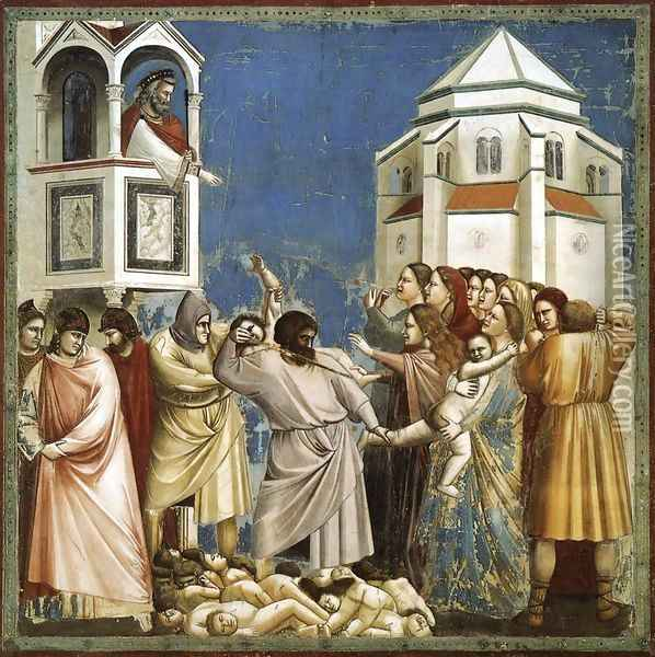 No. 21 Scenes from the Life of Christ- 5. Massacre of the Innocents 1304-06 Oil Painting - Giotto Di Bondone