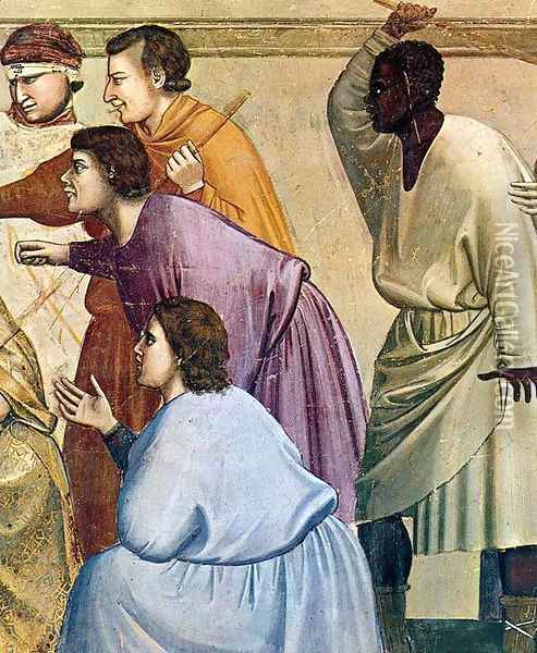 No. 33 Scenes from the Life of Christ- 17. The Flagellation (detail) 1304-06 Oil Painting - Giotto Di Bondone