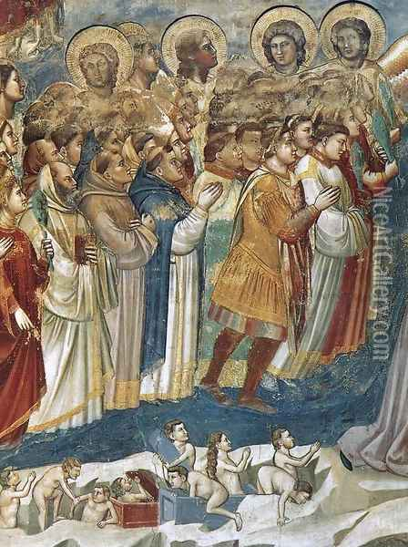Last Judgment (detail 7) 1306 Oil Painting - Giotto Di Bondone